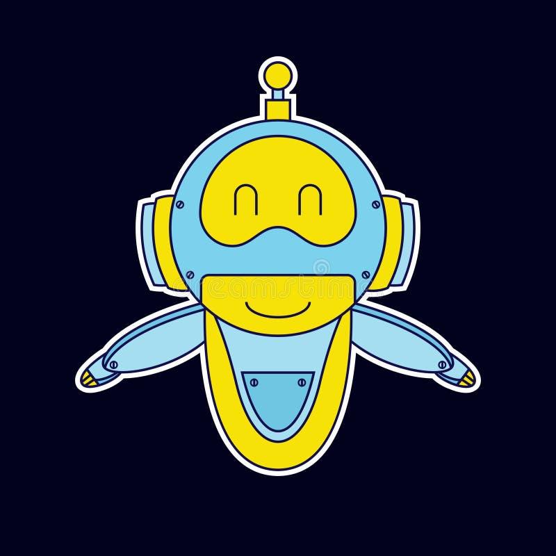 Smile robot mascot royalty free illustration