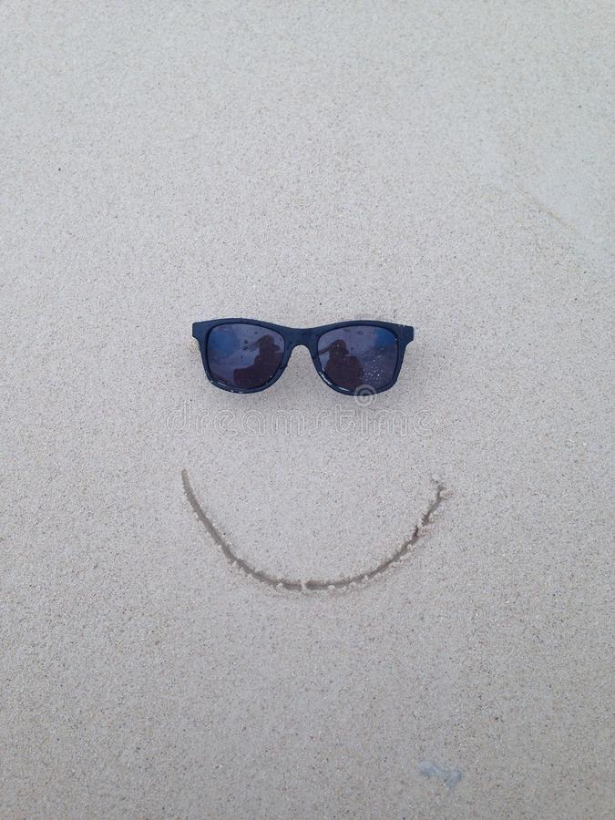 Smile in the sand royalty free stock photo