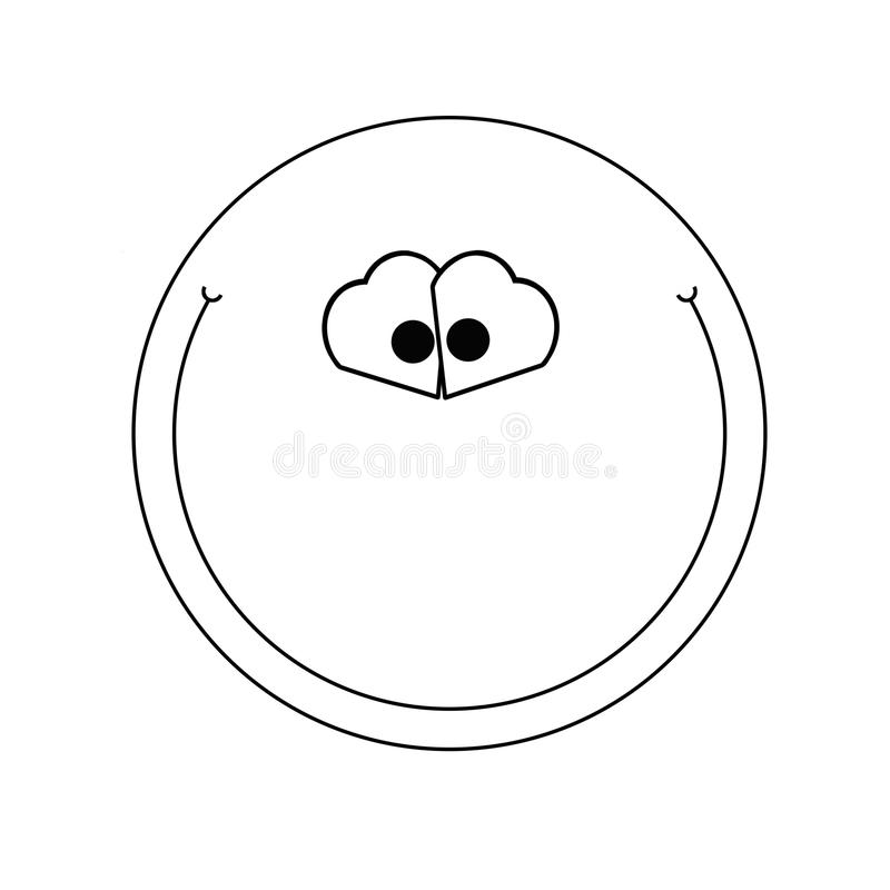 Smile simple illustration royalty free stock images