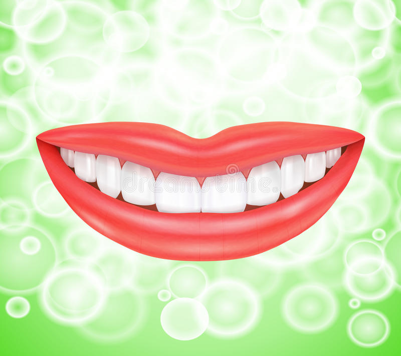 Smile. Smiling lips stock illustration