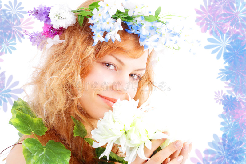 Download Smile of spring stock image. Image of girl, lovely, decorative - 2023781