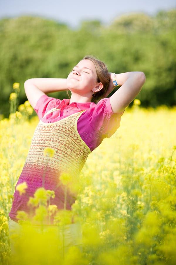 Download Smile Teen Open Hands Standing Stock Image - Image: 9675421
