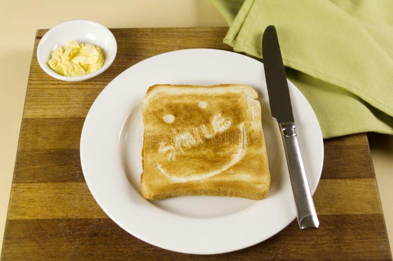 Smile Toast royalty free stock image