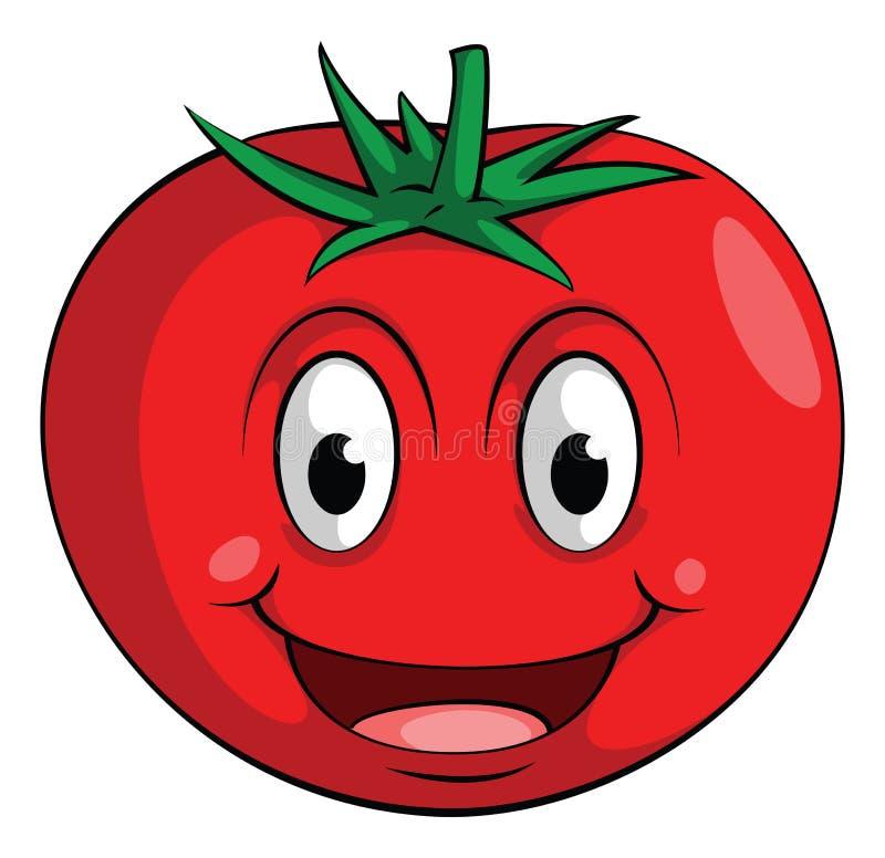 Smile Tomato. Eps 10 illustration Design royalty free illustration