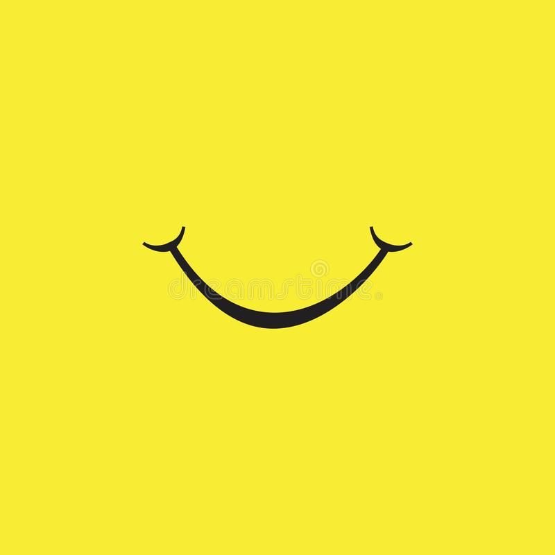 Smile Vector Template Design Illustration. Smile vector background icon illustration design isolated symbol paper card black logo object art white style holiday stock illustration