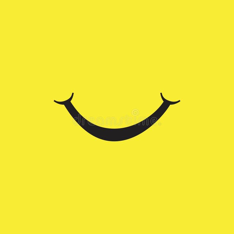 Smile Vector Template Design Illustration. Smile vector background icon illustration design isolated symbol paper card black logo object art white style holiday royalty free illustration