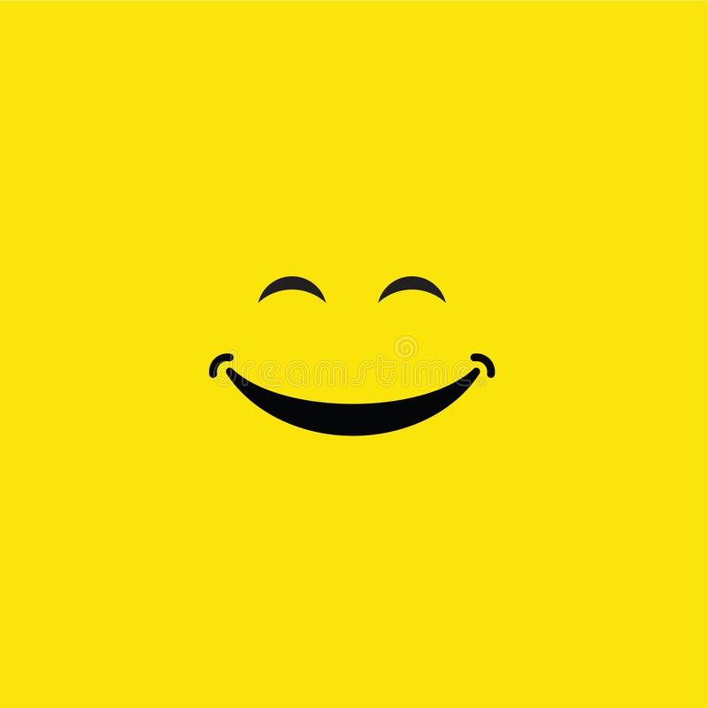 Smile Vector Template Design Illustration. Smile, vector, background, icon, illustration, design, isolated, symbol, paper, card, black, logo, object, art, white stock illustration
