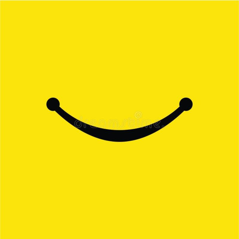 Smile Vector Template Design Illustration. Smile, vector, background, icon, illustration, design, isolated, symbol, paper, card, black, logo, object, art, white royalty free illustration