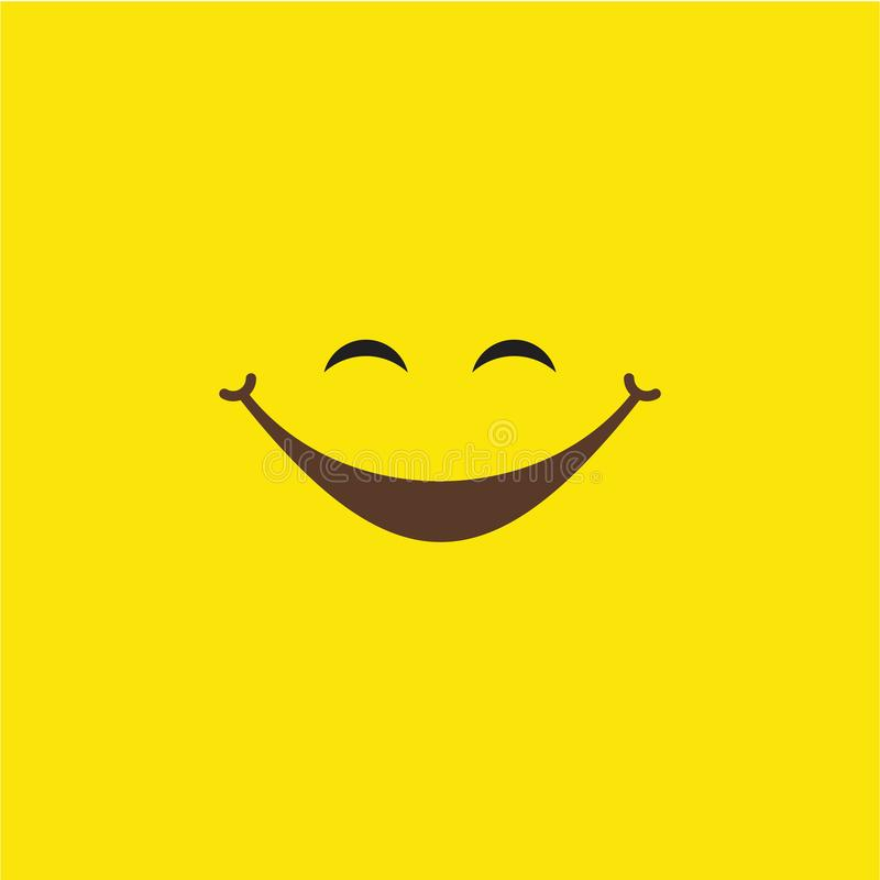 Smile Vector Template Design Illustration. Smile, vector, background, icon, illustration, design, isolated, symbol, paper, card, black, logo, object, art, white vector illustration