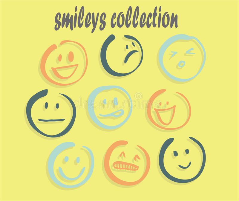 smilelyday Sammlung stockbild