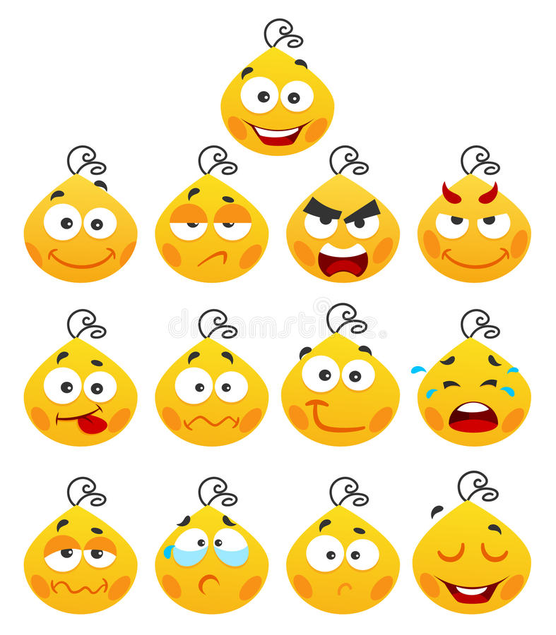 Download Smiles stock vector. Image of tear, smile, cute, angry - 15005109