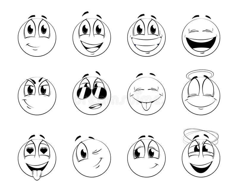 Download Smiles-balls stock vector. Image of ball, characters - 11201810