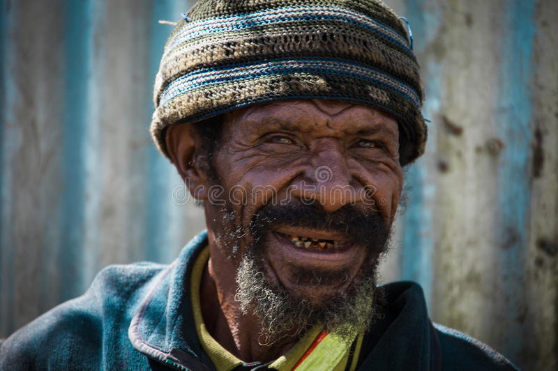 Smiles of Papua New Guinea royalty free stock image