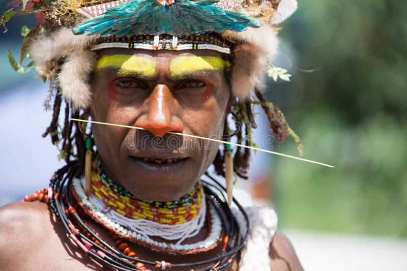Smiles of Papua New Guinea. People of Papua New Guinea stock photo