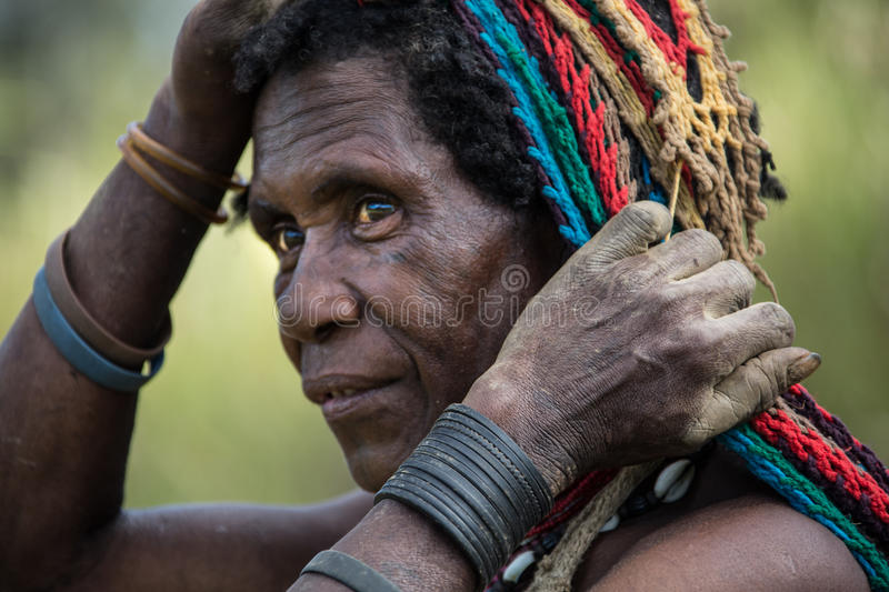 Smiles of Papua New Guinea. People of Papua New Guinea royalty free stock photo