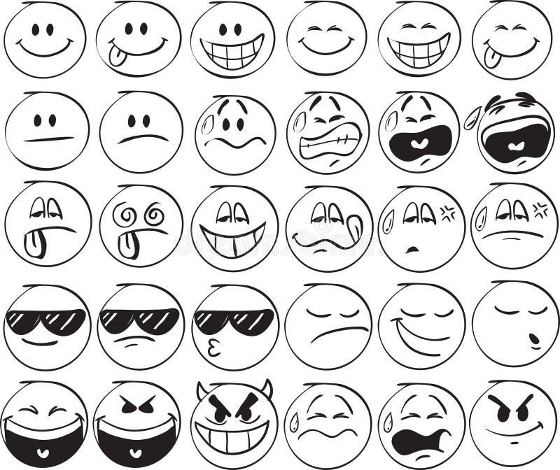 Smiles royalty free illustration