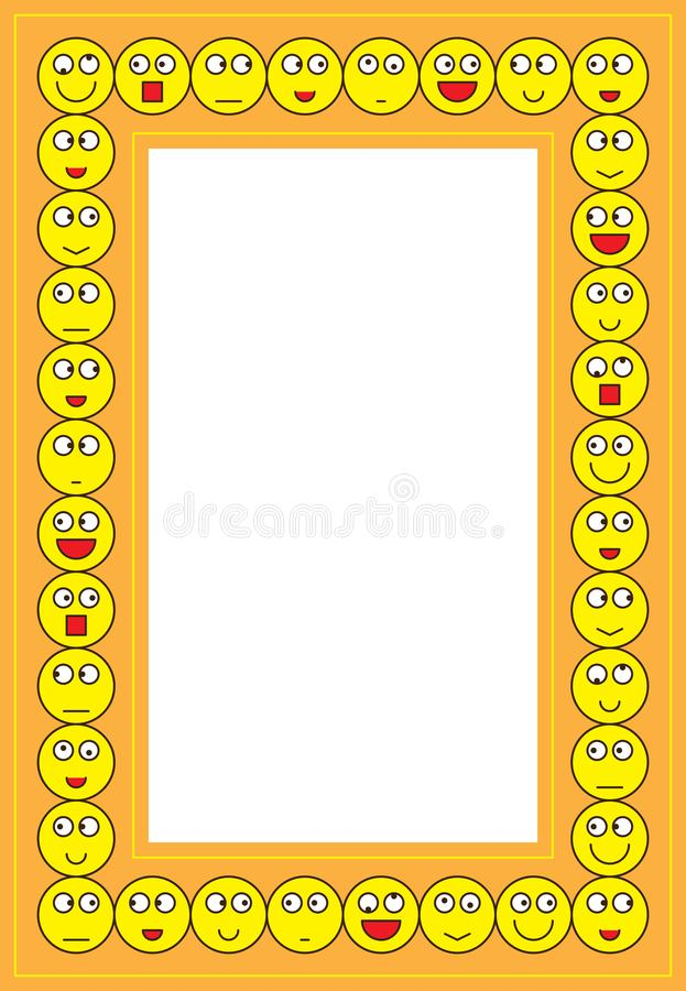 Smiley γύρω από το πλαίσιο διανυσματική απεικόνιση