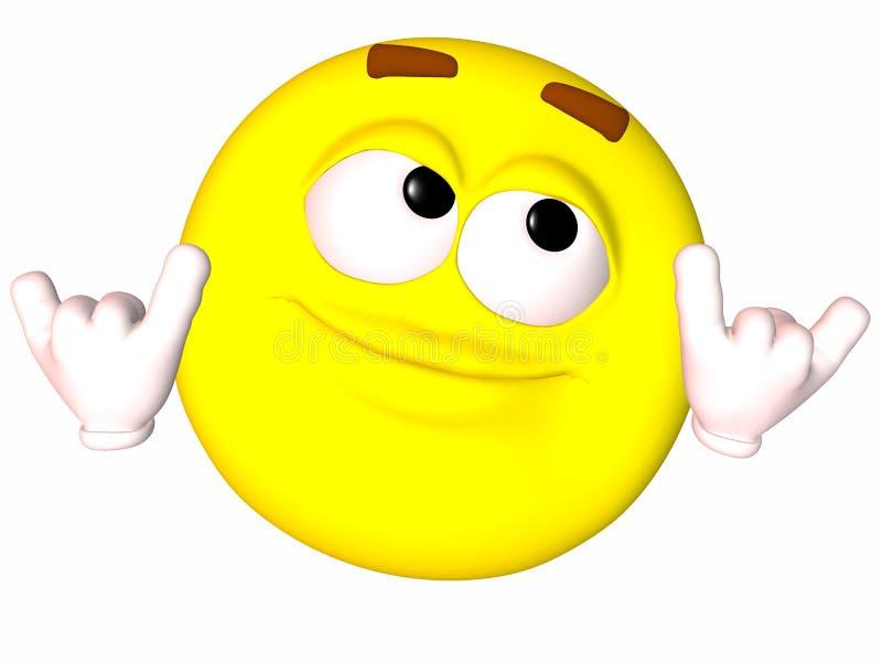 smiley σημαδιών shaka ελεύθερη απεικόνιση δικαιώματος