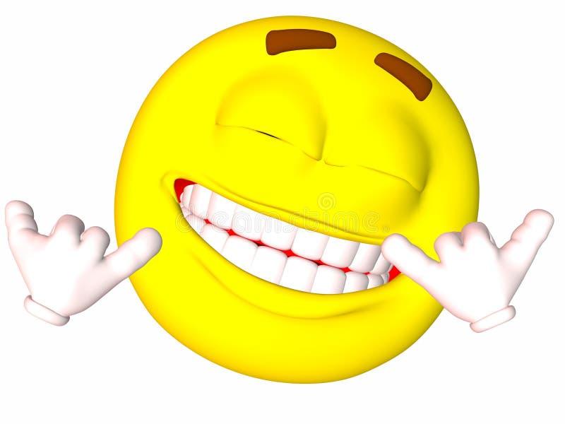 smiley σημαδιών shaka απεικόνιση αποθεμάτων