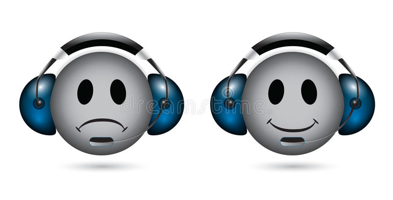 Smiley στη υποστήριξη πελατών ελεύθερη απεικόνιση δικαιώματος