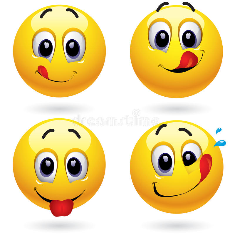 smiley σφαιρών διανυσματική απεικόνιση