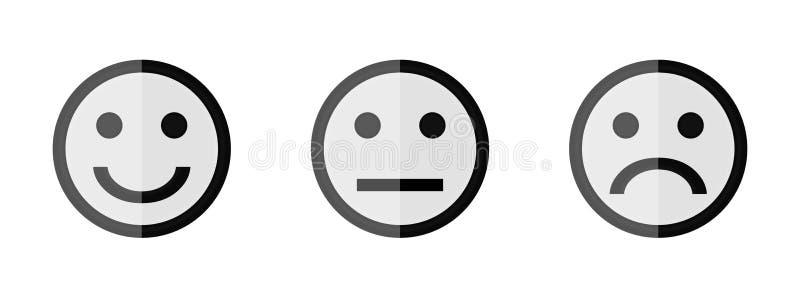 Smiley τρία απεικόνιση αποθεμάτων