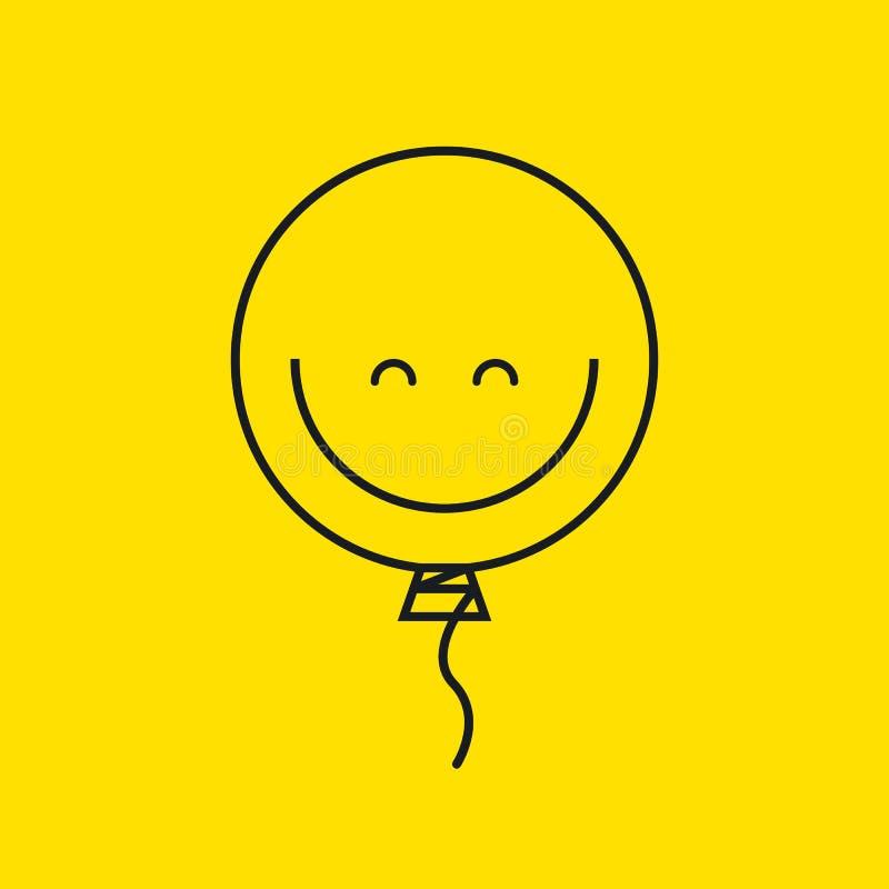 Smiley воздушного шара иллюстрация вектора