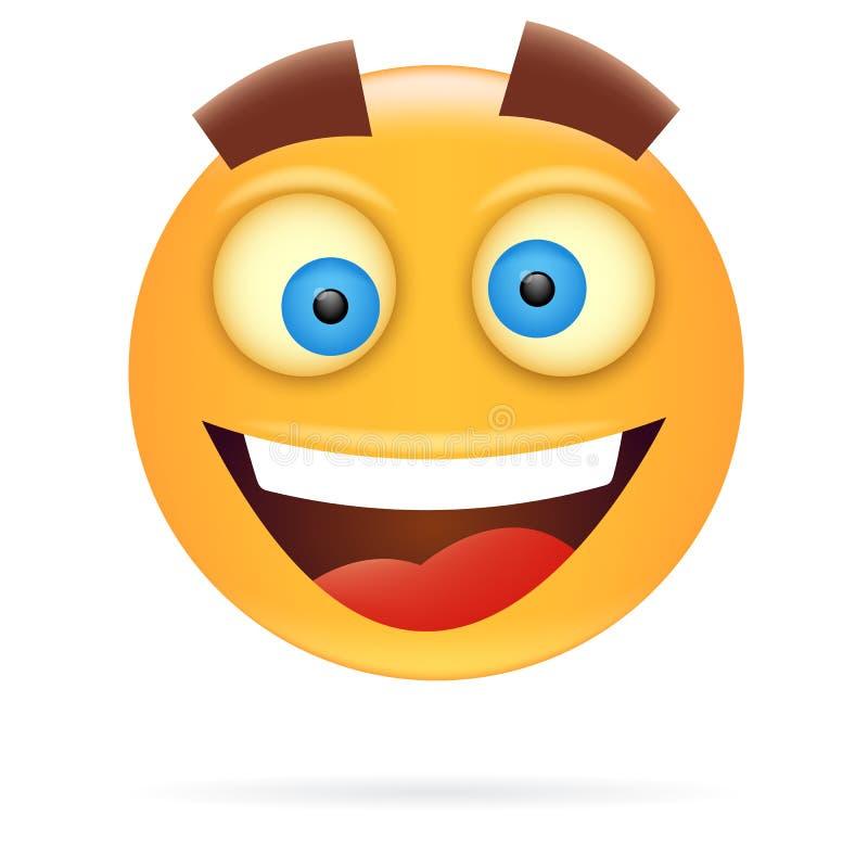 smiley Дизайн характера Стиль значка Счастливое illustra вектора стороны иллюстрация штока