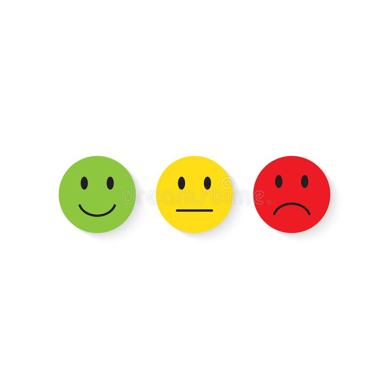 smiley части milo икон иконы установленный Жизнерадостный, неудовлетворенный Обратная связь с клиентом иллюстрация вектора