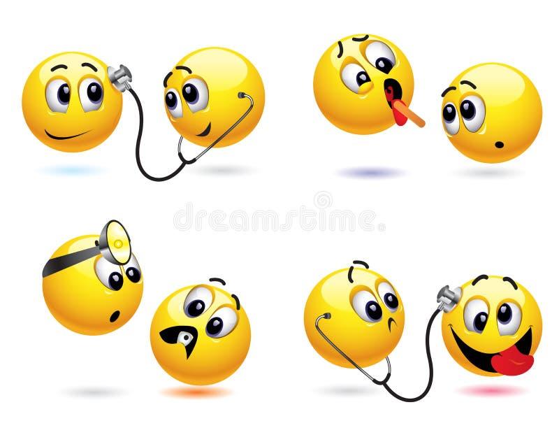 smiley шарика иллюстрация вектора
