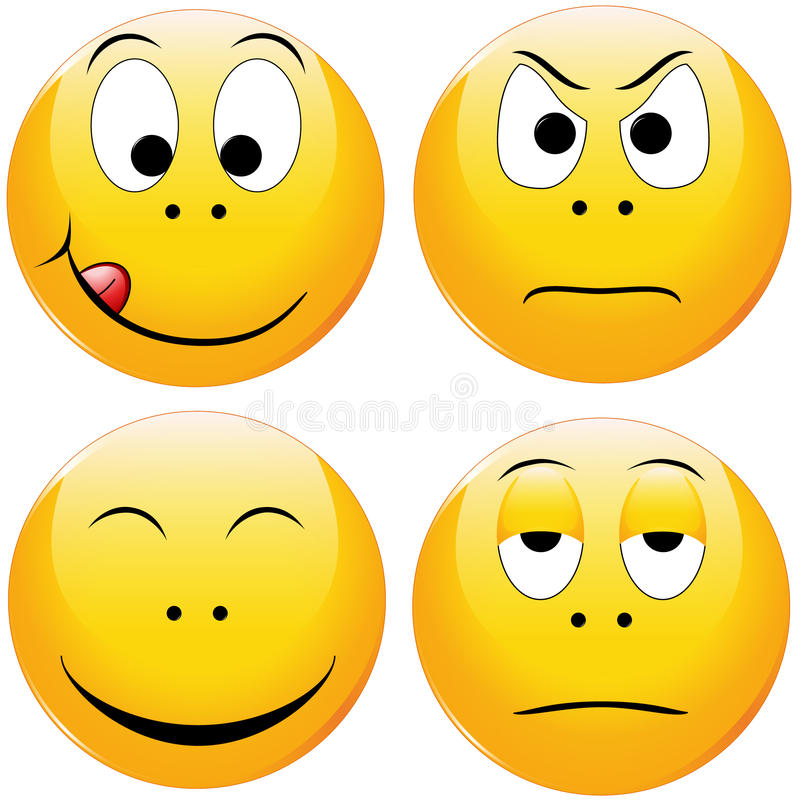 smiley stock illustrationer