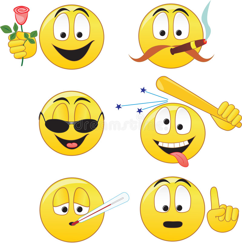Smiley illustration stock