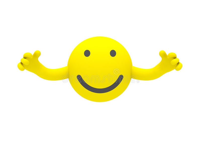 The smiley royalty free stock photo