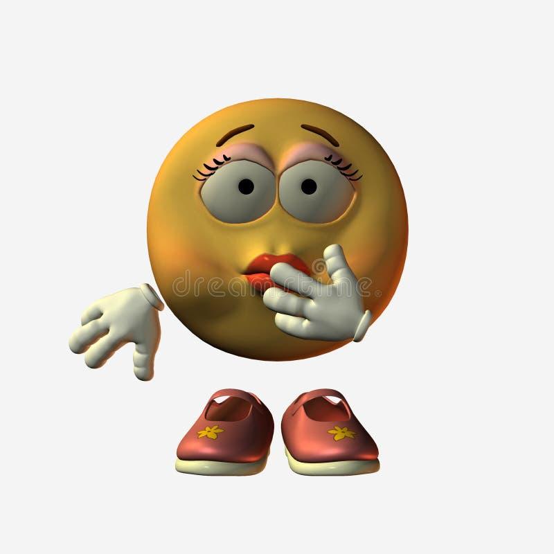 Smiley-Ammalato illustrazione vettoriale