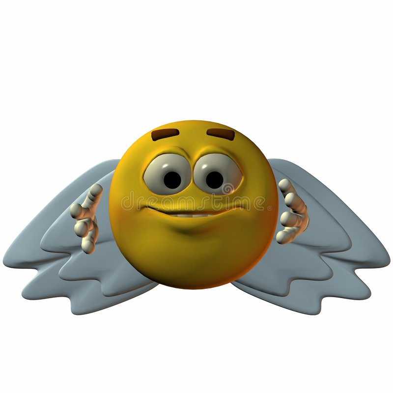 Download Smiley-Angel stock illustration. Image of smiley, silly - 1713352