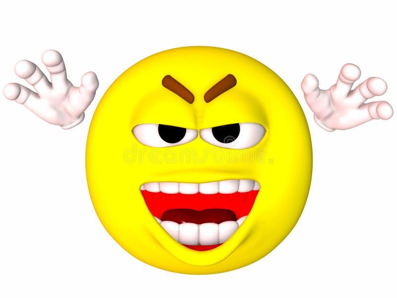 Smiley-Arggh lizenzfreie abbildung