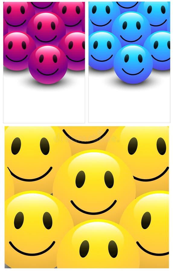 Smiley Backgrounds illustration stock