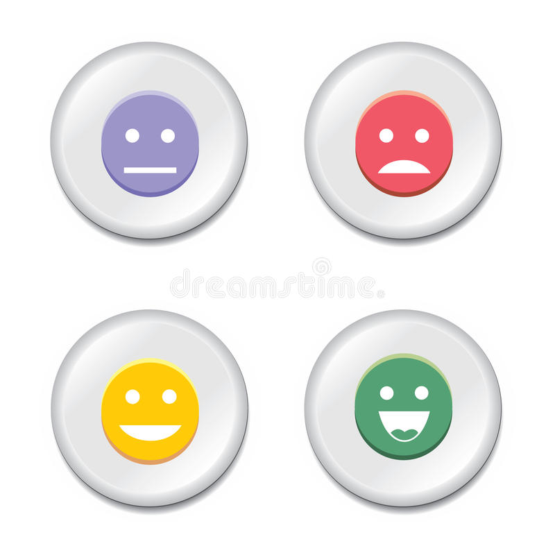 Download Smiley badge set stock vector. Image of love, expression - 19633859