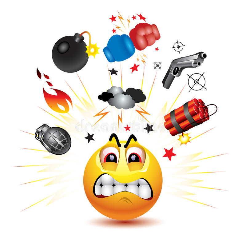 Download Smiley ball stock vector. Image of cloud, concept, explosives - 13080888