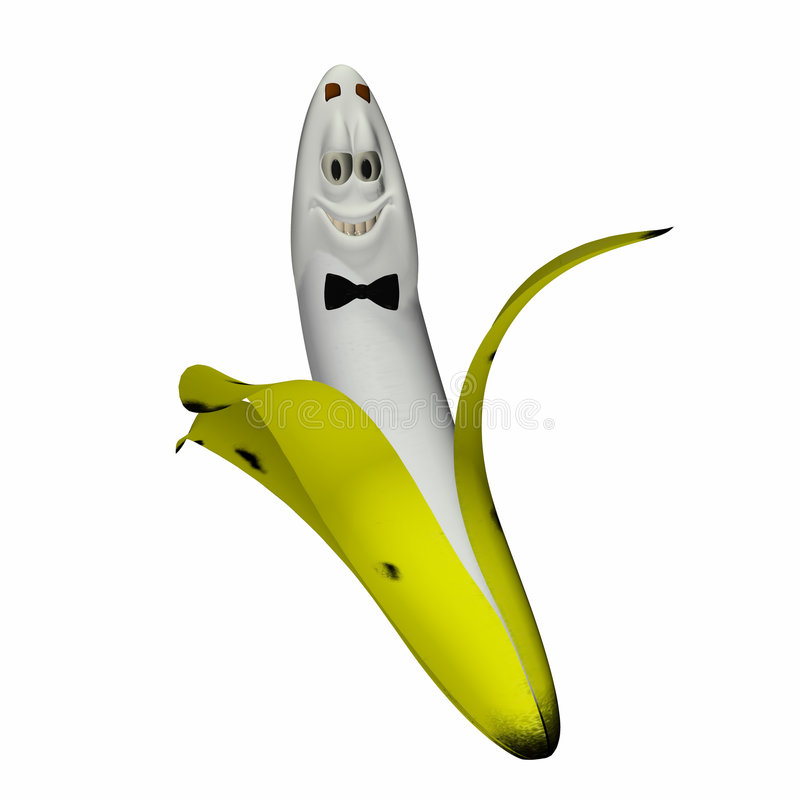 Smiley Banana - Happy vector illustration