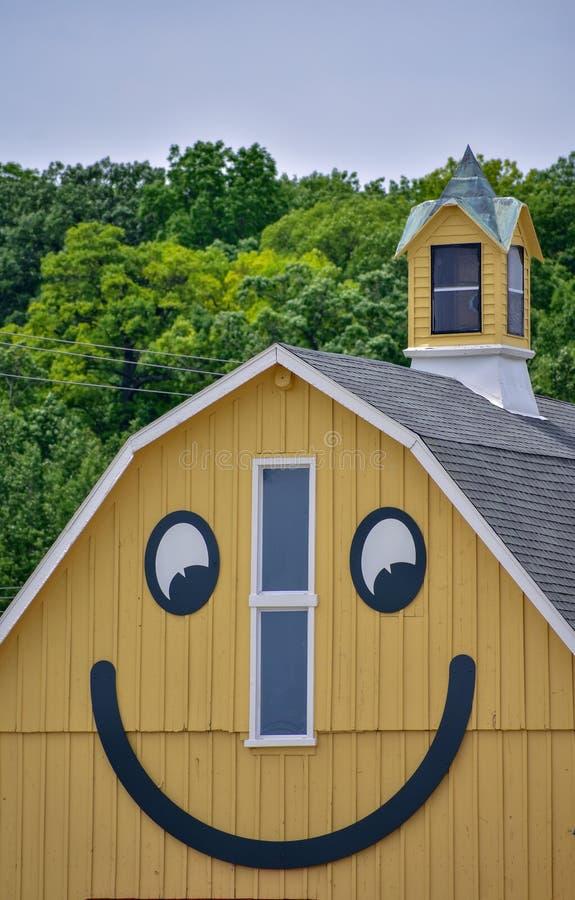 Smiley Barn i Delafield Wisconsin royaltyfria bilder