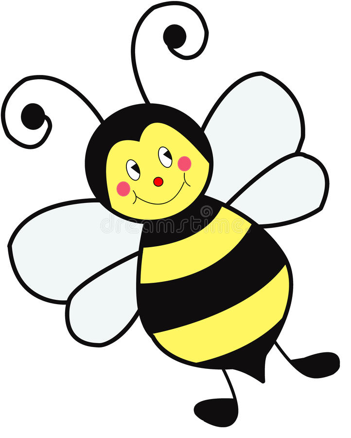 Smiley Bee stock afbeelding