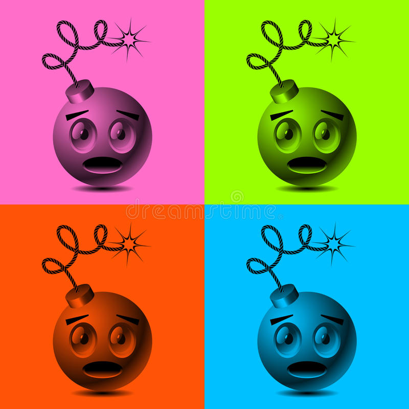 Download Smiley bombs stock vector. Image of conflict, smiley - 28080063