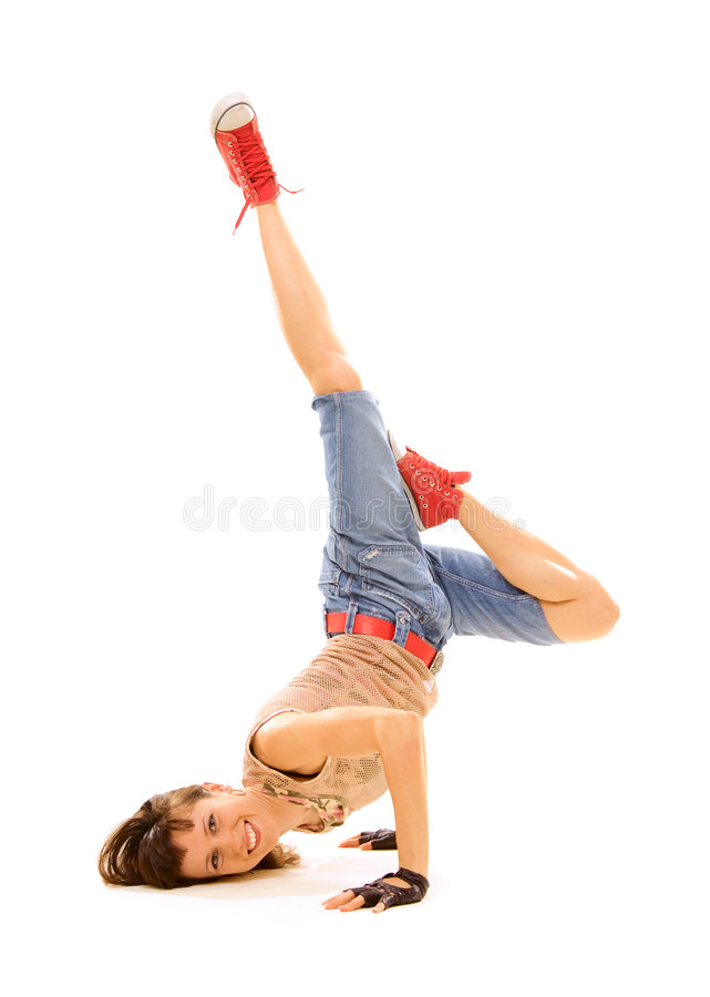 Smiley breakdancer in freeze