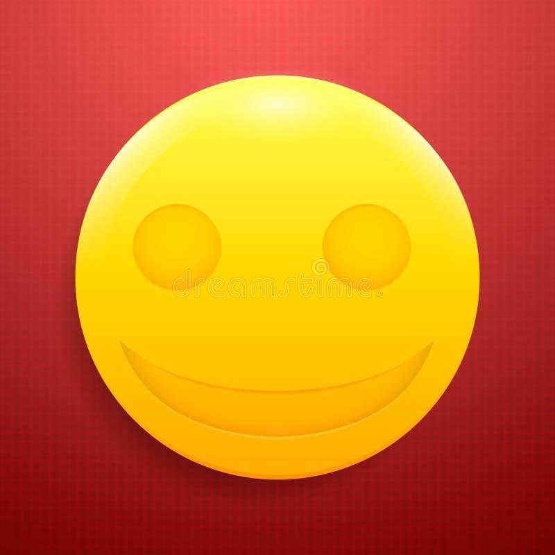 Smiley brillante enojado en fondo texturizado, rojo fotografía de archivo libre de regalías