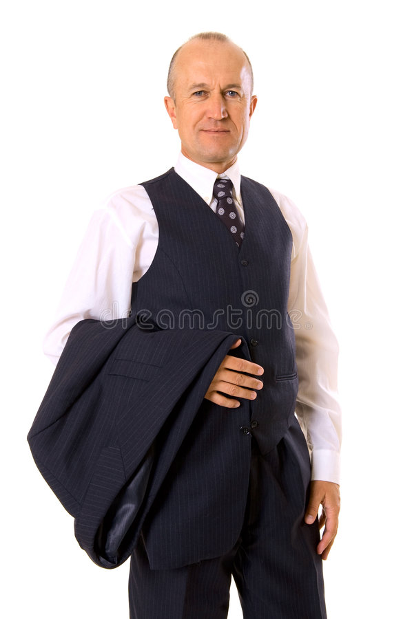 Smiley businessman royalty free stock photos