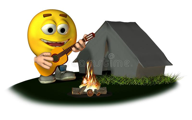 Smiley Camping stock illustration