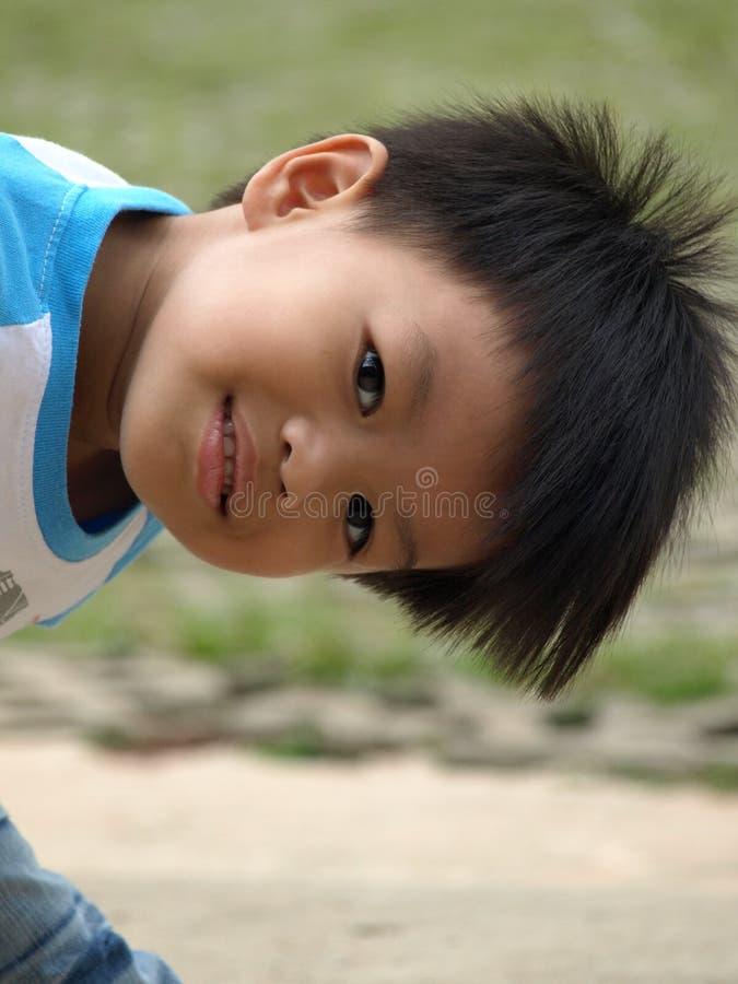Smiley chłopiec zdjęcie royalty free