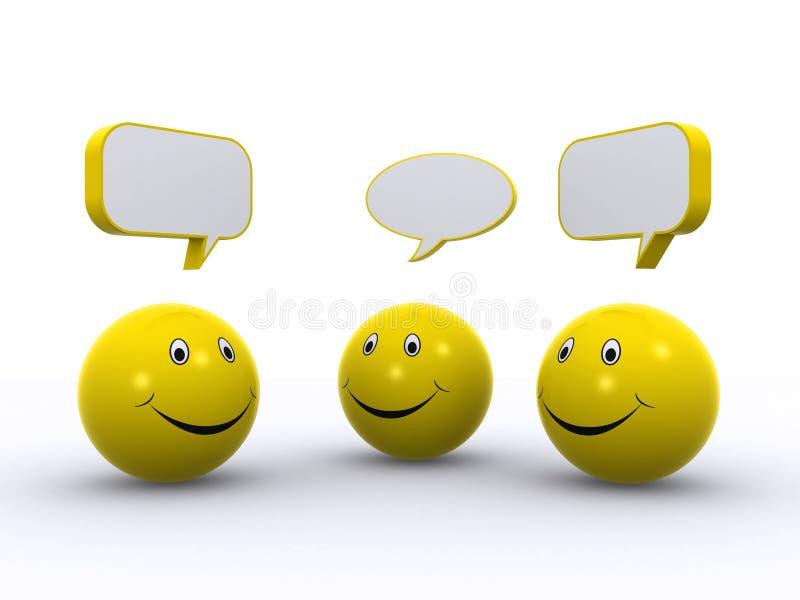 Download Smiley chat stock illustration. Illustration of community - 18278208