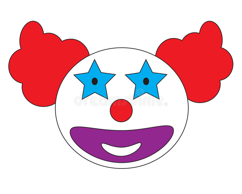 Smiley clown face icon vector. Isolated in white background vector illustration